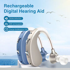 Digital Hearing Aid USB Rechargeable Personal Sound Voice Amplifier BTE Enhancer
