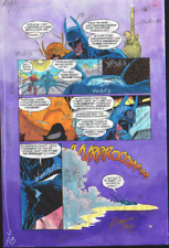 BATMAN SHADOW OF THE BAT #12 COLOR PRODUCTION ART SIGNED ADRIENNE ROY COA PG 15