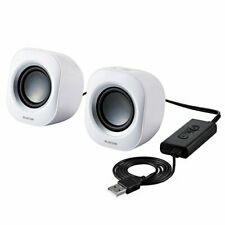 Elecom PC Speaker Compact 5W USB Connection White MS-P08USBWH from Japan