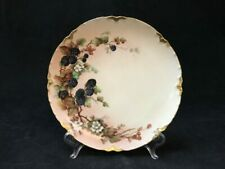 "Antique Haviland France Hand Painted Blackberries 8.5"" Plate 