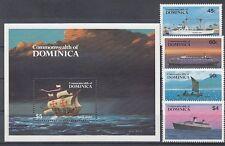 Schiffe  Dominica  856 - 59 + Block 89  ** (mnh)