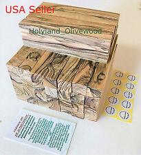 20 ~PREMIUM QUALITY~ BETHLEHEM /HOLY LAND~FIGURED~ Olive Wood Pen Turning Blanks
