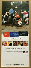 NEW FOUND GLORY Rare 2000 PROMO POSTER 4 Self title CD USA 10x24 NEVER DISPLAYED