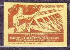 SU LTSR 1956 Matchbox Label - #039 - Hydroelectric development - Kaunas.