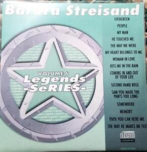 LEGENDS KARAOKE CDG BARBRA STREISAND OLDIES  #6 CD+G KISS ME IN RAIN,EVERGREEN
