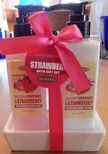 Aromanice Bath + Body Gift Set - Grapefruit + Strawberry