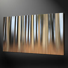 "ABSTRACT BIRCH BROWN FOREST MODERN DESIGN PHOTO CANVAS PRINT 20""x16"" FREE UK P&P"