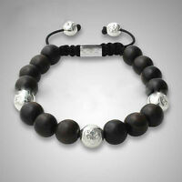 Herren Kugelarmband Armband Armreifen Bracelet Biker Mode Perlenarmband Fashion