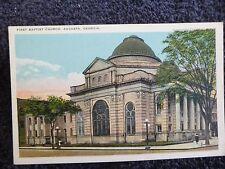 1920's The First Baptist Church in Augusta, Ga Georgia PC