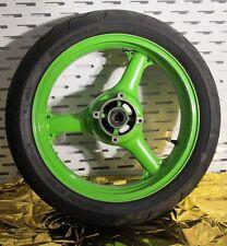 original Kawasaki ZX400 HINTERRAD Rear Weel (Felge+Reifen) grün geprüft gebr