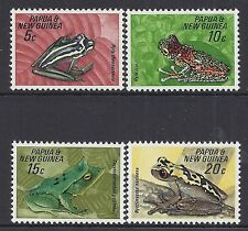 1968 PNG FROGS SET OF 4 FINE MINT MUH/MNH