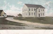 Antique POSTCARD c1905-07 Rocky Hill Church AMESBURY, MA MASS. Unused 14220