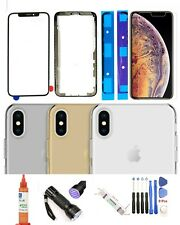 iPhone Xs Max Front Screen Glass Replacement Lens + Back Glass Complete Kit