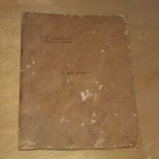 Self Analysis By L. Ron Hubbard 1951 First Edition Book Rare Scientology Find