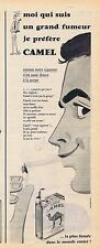 PUBLICITE ADVERTISING 114 1956 CAMEL cigarettes brunes sans filtre