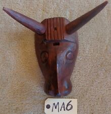 """TRIBAL WOOD CARVED MASK HEAD   WOODEN  """"MA6"""""""