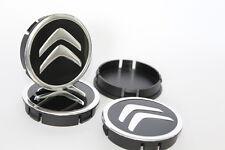 4 x Aluminium Nabenkappen Radkappe Alufelgen 60mm/55mm für CITROEN
