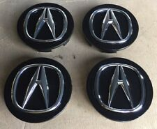 "ACURA RL CL TL RDX MDX TSX Chrome Center Caps OEM ""Black""NEW 69 MM Set Of 4 Pcs"