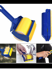 Reusable Washable Sticky Lint Remover Roller Picker Brush Fluff Clothes Hair UK