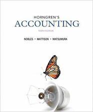 INSTRUCTOR'S EDITION: Horngren's Accounting (10th) (Nobles, Mattison, Matsumara)
