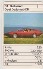 Kwartet kaart / Quartet Card / Spielkarte Cars Opel Diplomat-CD