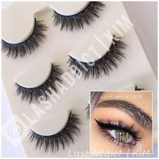 3 Pairs MINK Lashes Natural Wispy 3D Eyelashes 💕❣️ USA SELLER
