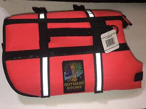 New Outward Hound Granby Splash Life Jacket Float Orange Small Dogs 15-25 lbs