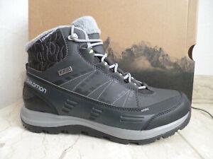 Salomon Stiefel Boots Stiefeletten Kaina CS WP schwarz 390591 NEU