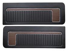 New 1973-76 Maverick Door Panels Decor Interior 2dr LH RH Black-Woodgrain Ford