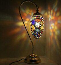 Lámpara de mesa impresionante mosaico de Gran Turco Marroquí el tema de la cortina.
