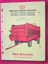 1964 NEW HOLLAND MODEL 3 & 6 CROP-CARRIER PARTS CATALOG MANUAL