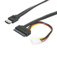 "Power ESATA Combo to SATA 22p & IDE 4p 5V 12V for 3.5"" 2.5"" Hard Disk cable 50cm"