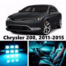 8pcs LED ICE Blue Light Interior Package Kit for 2011-2015 Chrysler 200