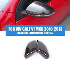 SET OF VW GOLF MK6 Mkvi CARBON FIBRE REPLACEMENT WING MIRRORS GTD GTI R TOURAN
