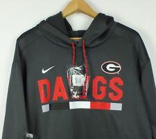 UGA Nike Georgia Bulldogs Full-Zip DAWGS Sweatshirt Hoodie 2XL Dri-Fit NWT