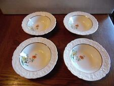 4  Old Holland USA Ware Yellow Roses Orange Poppy Floral Dessert Berry Bowls