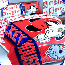 Mickey Mouse Anaheim Angels Player Comforter 3pc MLB Disney Bedding Pillow