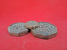 3 PCs Set 1915 Rare Old Vintage M.D.W Iron Mercantile Measuring scale Weights