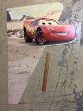 Cars Disney Pixar Lightning Mcqueen Display Sign Plastic Wall Decoration