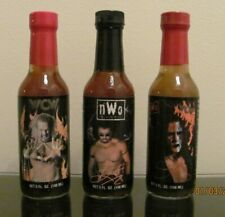 NEW WCW NWO HOT SAUCE BOTTLE LOT 1998 STING / DIAMOND DALLAS PAIGE  BUFF BAGWELL