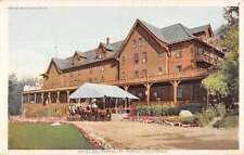 El Portal California Hotel Horse Carriage Detroit Pub Antique Postcard K60319