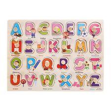 Wooden Alphabet puzzle Matching Toy Montessori for Kid Children's Day Gift V7R3