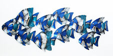 SCHOOL OF BLUE FISH Metal Wall Art  Suitable for Indoor and Outdoor Use 71 cm
