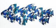 Escuela de Azul Pez Arte Mural Metal Adecuado para Interior y Uso 71 Cm