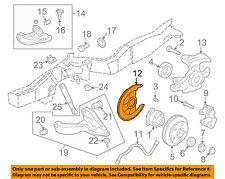GM OEM Disc Brake-Front-Backing Plate Dust Splash Shield Right 15704500