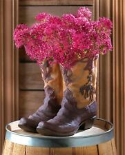 New ListingSouthwestern Country Rustic Cowboy Boots Planter Garden Ranch Flower Pot