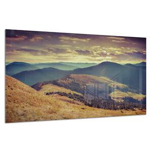 Photo Print Wall Art Picture Tempered Glass Mountains Autumn View Prizma GWA0334