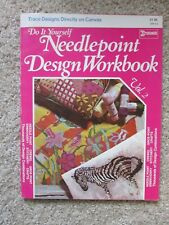 1972 Needlepoint design workbook Brunswick trace designs on canvas