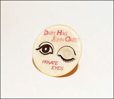 Daryl Hall & John Oates Private Eyes Double View Promo Button Pin Badge