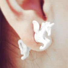 Punk Cool Retro Stereoscopic Unicorn Horse Impalement Lady Stud Earrings Gift